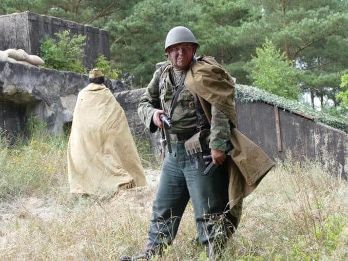 Soldaten im Bunker von Ustka