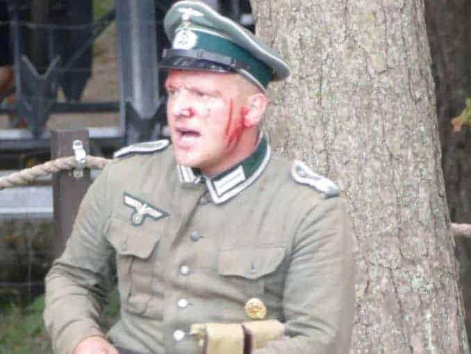 Verletzter Soldat im Blücher Bunker