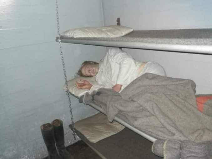 Insasse im Blücher Bunker Ustka