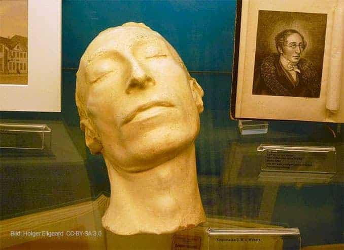 Carl Maria von Webers Totenmaske