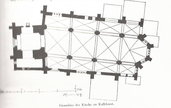 Grundriss der Dorfkirche Kalkhorst