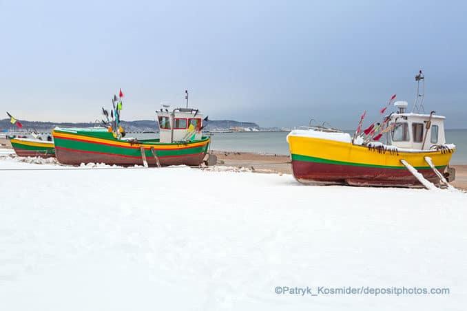 Swinemünde im Winter