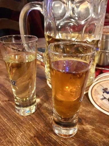 Bierglas im Kurna Chata