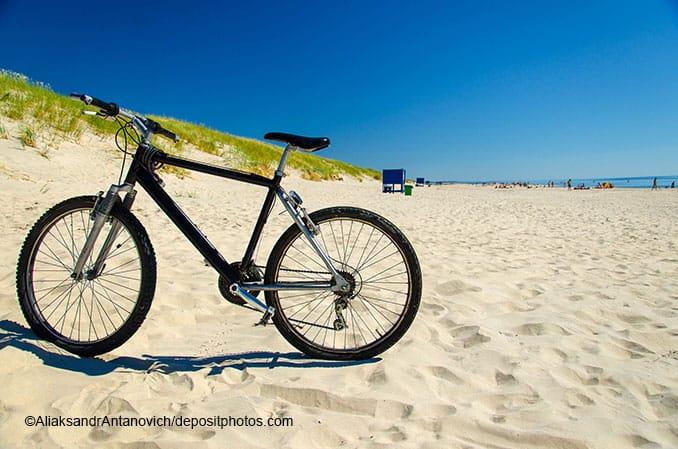 Fahrrad am Ostseestrand