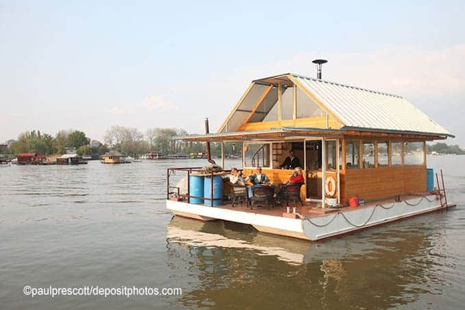 Hausboot auf Insel Rügen