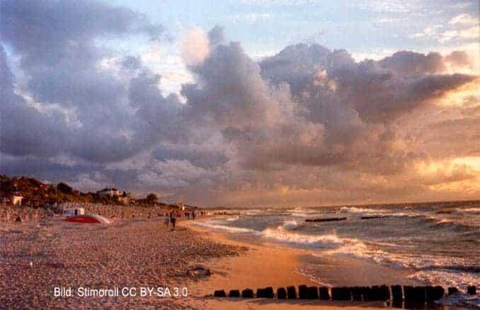 Strand in Mielno (Polnische Ostsee)