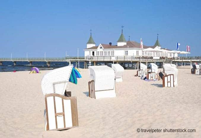 Usedom Strand mit Seebrücke