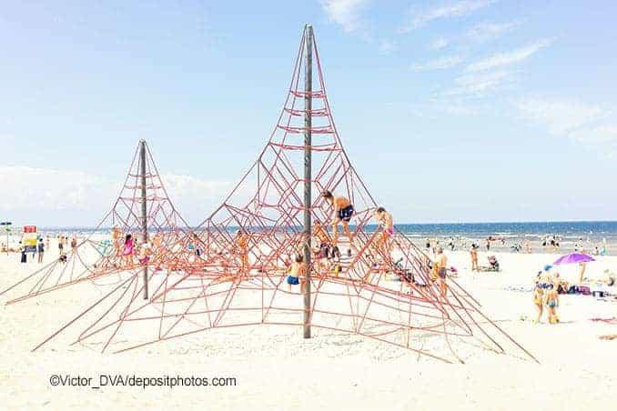 Spielplatz Usedom am Strand