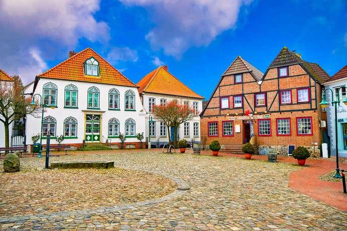Markt in Meldorf Dithmarschen Schleswig-Holstein