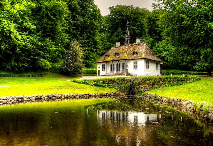 Schloss Liselund auf der Insel Mön
