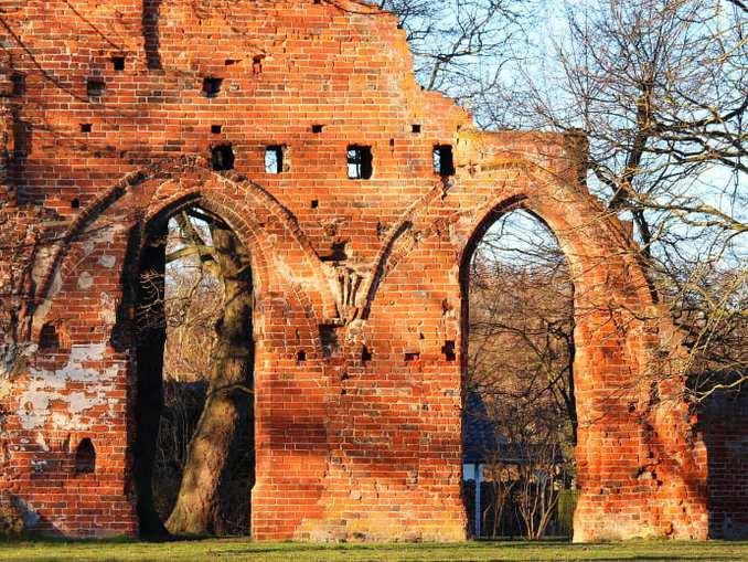 Klosterruine Eldena - Zistantienerkloster bei Greifswald Grundmauern