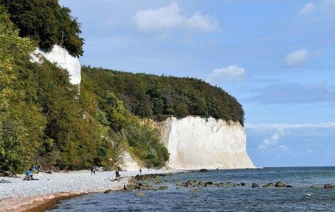 Kreidefelsen der Stubbenkammer auf Rügen