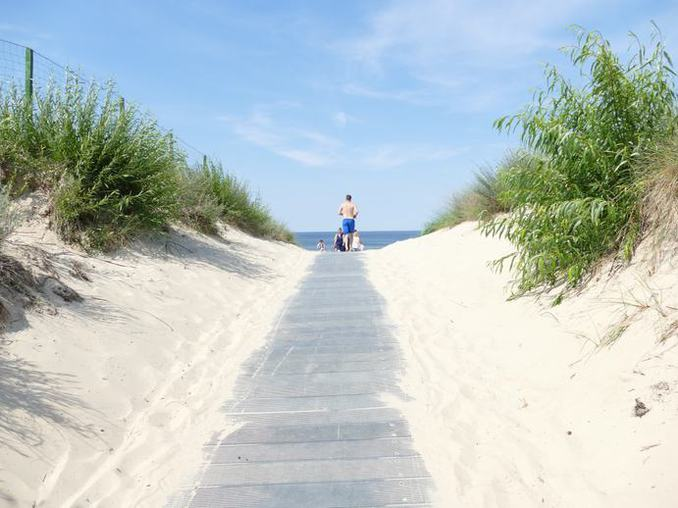 Zugang zum Ostseestrand / Camping