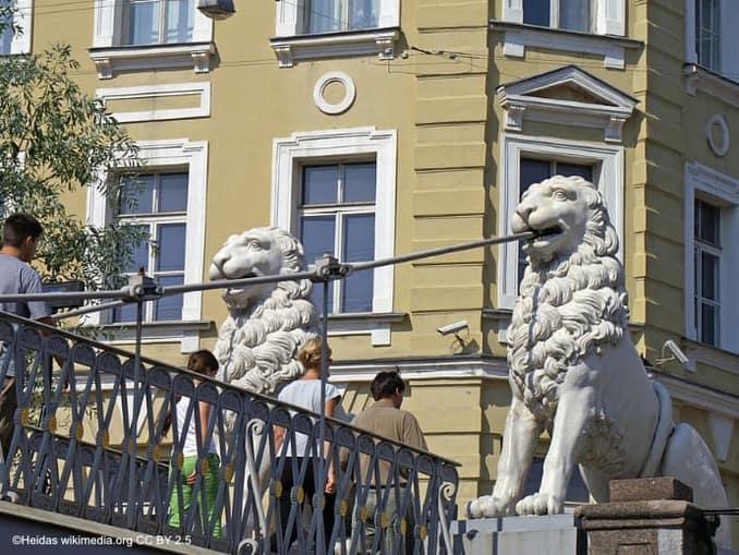 Sankt Petersburg Löwenbrücke