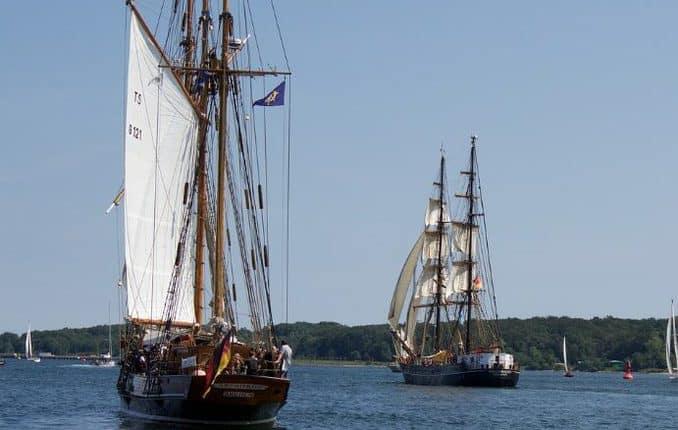 Schiffe auf der Kieler Förde