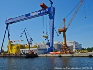 Rostock Hafen Warnow Werft