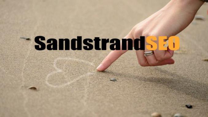 SEO Herz im Sandstrand