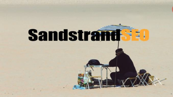 SandstrandSEO und Meerwasser Online Marketing in der Mittagssonne