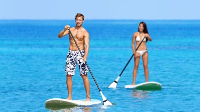 Stand Up Paddling an der Ostsee